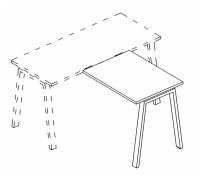 Брифинг-приставка на металлокаркасе TRE A4 Б3 074 БП