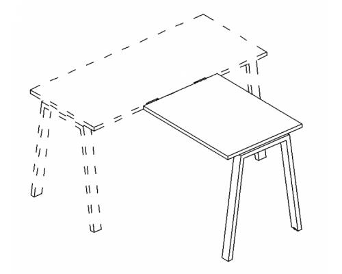 Брифинг-приставка на металлокаркасе TRE A4 Б3 073 БП