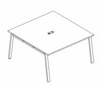 Стол для переговоров на металлокаркасе TRE A4 Б3 132 БП