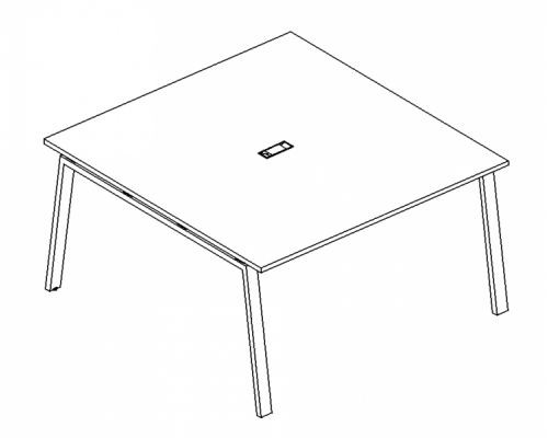 Стол для переговоров на металлокаркасе TRE A4 Б3 131 БП