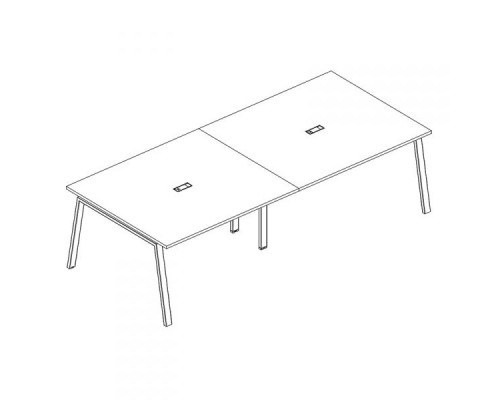 Стол для переговоров на металлокаркасе TRE A4 Б3 133-2 БП