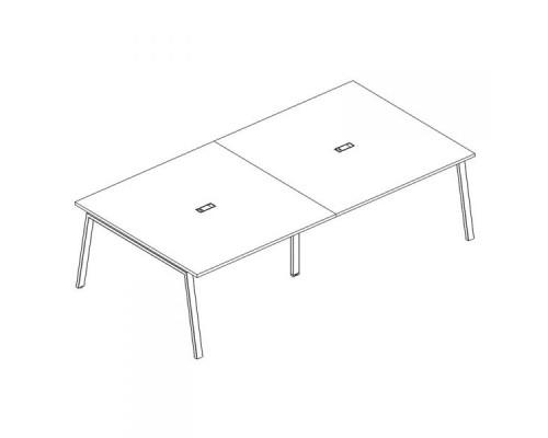 Стол для переговоров на металлокаркасе TRE A4 Б3 135-2 БП
