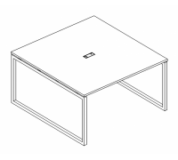 Стол для переговоров на металлокаркасе QUATTRO A4 Б4 131 БП