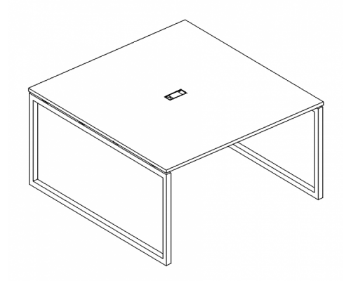 Стол для переговоров на металлокаркасе QUATTRO A4 Б4 136 БП