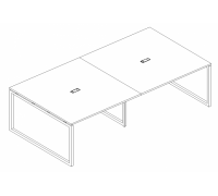 Стол для переговоров на металлокаркасе QUATTRO A4 Б4 131-2 БП