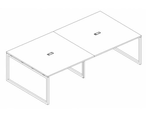 Стол для переговоров на металлокаркасе QUATTRO A4 Б4 133-2 БП