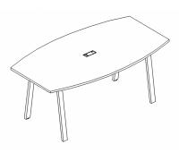 Стол для переговоров на металлокаркасе TRE A4 Б3 111 БП