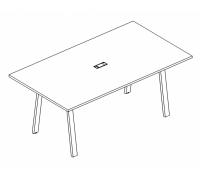 Стол для переговоров на металлокаркасе TRE A4 Б3 121 БП