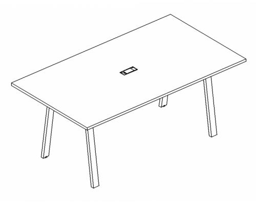Стол для переговоров на металлокаркасе TRE A4 Б3 122 БП