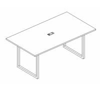Стол для переговоров на металлокаркасе QUATTRO A4 Б4 123 БП