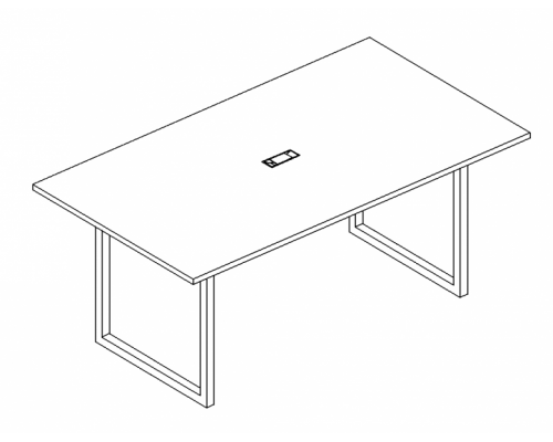 Стол для переговоров на металлокаркасе QUATTRO A4 Б4 122 БП