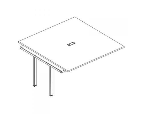 Секция стола для переговоров на металлокаркасе TRE A4 Б3 135-1 БП