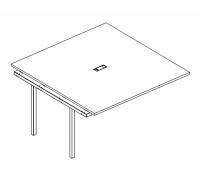 Секция стола для переговоров на металлокаркасе DUE A4 Б2 135-1 БП