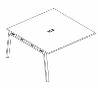 Секция стола для переговоров на металлокаркасе TRE A4 Б3 131-1 БП