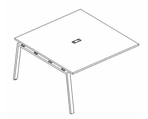Секция стола для переговоров на металлокаркасе TRE A4 Б3 132-1 БП