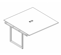 Секция стола для переговоров на металлокаркасе QUATTRO A4 Б4 132-1 БП