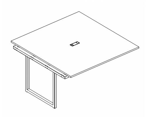 Секция стола для переговоров на металлокаркасе QUATTRO A4 Б4 131-1 БП