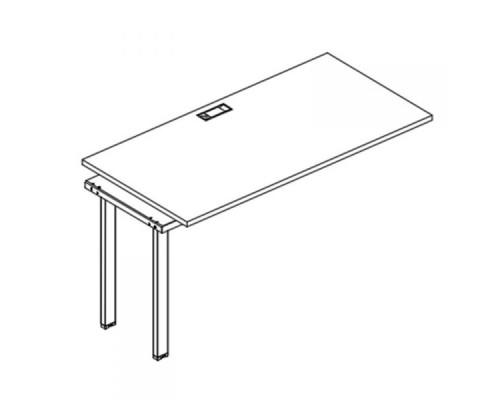 Секция стола рабочей станции на металлокаркасе UNO A4 Б1 014-1 БП
