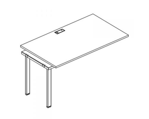 Секция стола рабочей станции на металлокаркасе UNO A4 Б1 023-1 БП