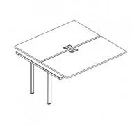 Секция стола рабочей станции на металлокаркасе UNO (2х120) A4 Б1 173-1 БП