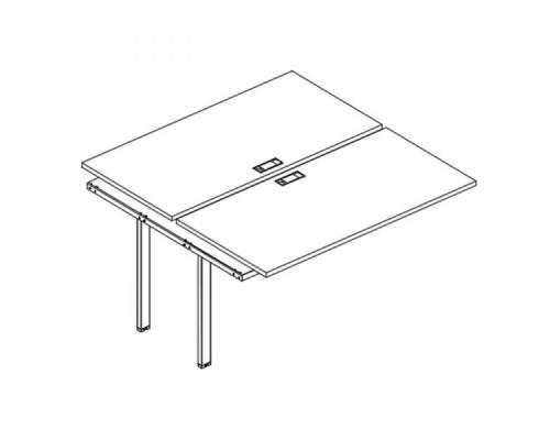 Секция стола рабочей станции на металлокаркасе UNO (2х160) A4 Б1 175-1 БП