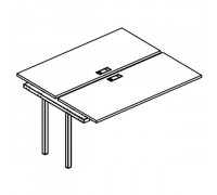 Секция стола рабочей станции на металлокаркасе DUE (2х120) A4 Б2 170-1 БП
