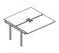 Секция стола рабочей станции на металлокаркасе DUE (2х120) A4 Б2 173-1 БП