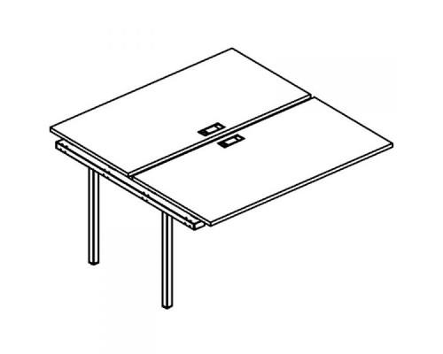 Секция стола рабочей станции на металлокаркасе DUE (2х140) A4 Б2 174-1 БП