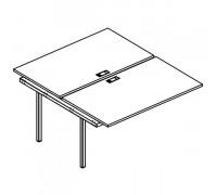 Секция стола рабочей станции на металлокаркасе DUE (2х120) A4 Б2 176-1 БП