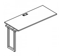 Секция стола рабочей станции на металлокаркасе QUATTRO A4 Б4 003-1 БП