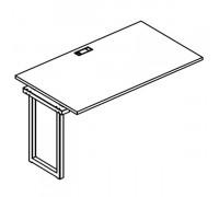 Секция стола рабочей станции на металлокаркасе QUATTRO A4 Б4 022-1 БП