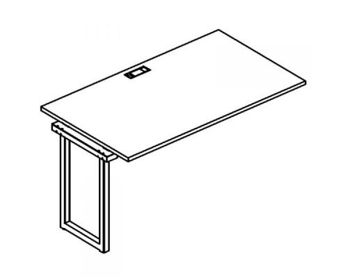Секция стола рабочей станции на металлокаркасе QUATTRO A4 Б4 024-1 БП