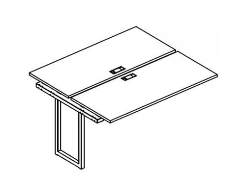Секция стола рабочей станции на металлокаркасе QUATTRO (2х140) A4 Б4 171-1 БП