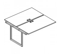 Секция стола рабочей станции на металлокаркасе QUATTRO (2х120) A4 Б4 173-1 БП