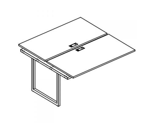 Секция стола рабочей станции на металлокаркасе QUATTRO (2х140) A4 Б4 174-1 БП