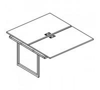 Секция стола рабочей станции на металлокаркасе QUATTRO (2х140) A4 Б4 177-1 БП