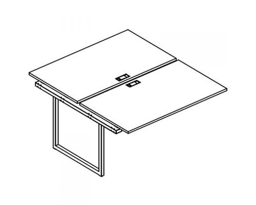 Секция стола рабочей станции на металлокаркасе QUATTRO (2х120) A4 Б4 176-1 БП