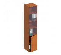 Шкаф для документов узкий со стеклом Формула МП ФР 381