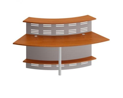 Модуль ресепшен с опорой и экраном угловой 60 грд.изогнутый внутрь Формула ФР 464 +ФР 479 ХР