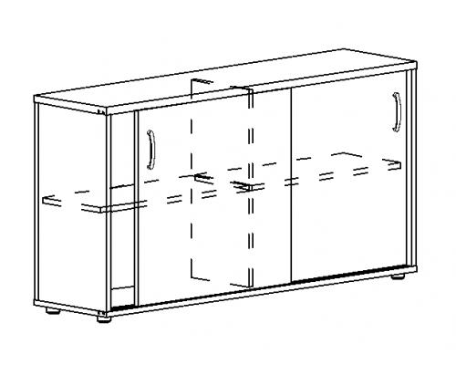 Шкаф-купе низкий (для 2-х столов 70) Albero А4 303