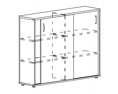 Шкаф-купе средний (для 2-х столов 70) Albero А4 304