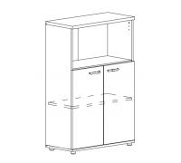 Шкаф средний полузакрытый Albero А4 9363