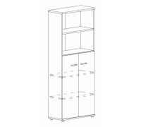 Шкаф для документов полузакрытый Albero А4 9378
