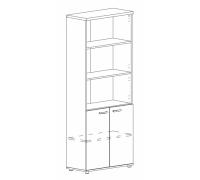 Шкаф для документов полузакрытый Albero А4 9371