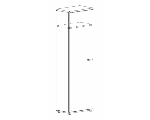 Шкаф для одежды узкий Albero А4 9308