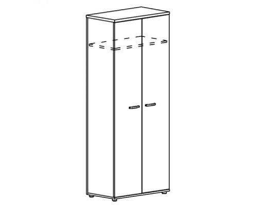 Шкаф для одежды (задняя стенка ДСП) Albero А4 9317