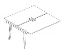 Секция стола рабочей станции (2х160) Albero АЛ 9175-1