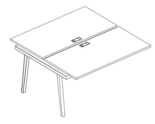 Секция стола рабочей станции (2х140) Albero АЛ 9174-1