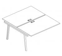 Секция стола рабочей станции (2х120) Albero АЛ 9176-1