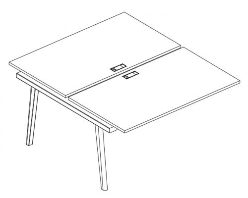 Секция стола рабочей станции (2х160) Albero АЛ 9178-1